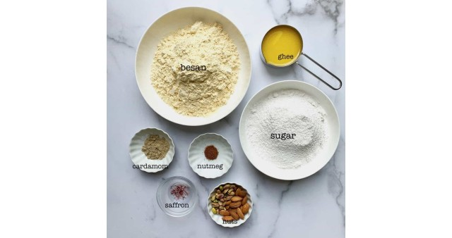 Besan Laddu ingredients in Marathi