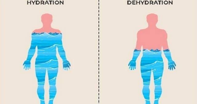 Dehydration symptoms in Marathi